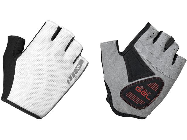 GripGrab EasyRider Padded Short Finger Gloves white